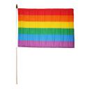 Regenbogenshop Fahne Stab
